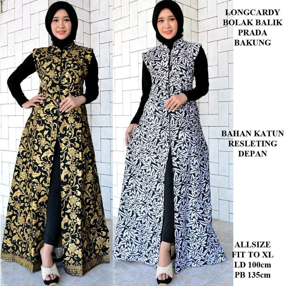 Model Gamis Batik Rompi