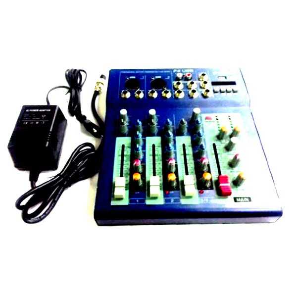 Murah !!! Profesional Mixing Console Crimson 4 Channel F4 Usb Effect