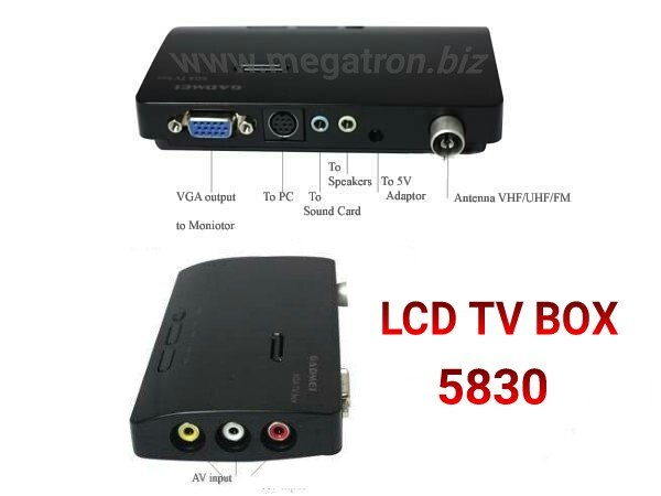 Super Murah - TV Tuner GADMEI 5821 - Nonton TV di monitor CRT LCD LED tanpa CPU