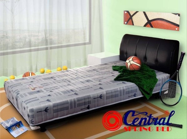 Kasur Spring Bed Central Multibed Sporty Silver X1 ukuran 100 x 200 [ Full Set ]