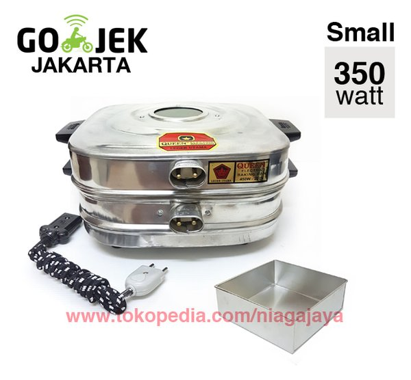 PROMO Electric Baking Pan Queen Oven Kue Lapis 350 Watt - Small