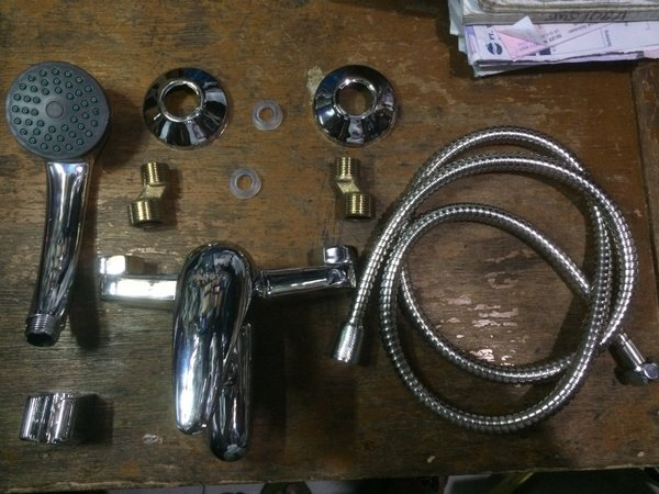 kran batub shower untuk water heater, model wasser dan toto