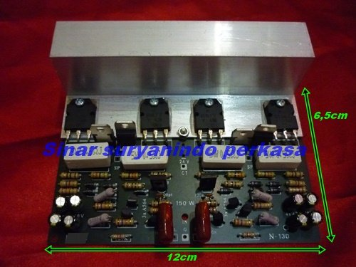 Kit power amplifier OCL 150 watt stereo, Rangkaian