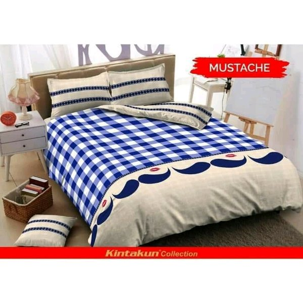 Bed Cover Set KINTAKUN Deluxe 180x200 King New Mustache