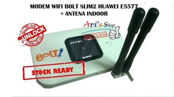 MODEM WIFI 4G LTE BOLT SLIM2 SLIM 2 HUAWEI E5577 UNLOCK  ANTENA INDOOR