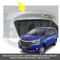 aksesoris grand new avanza 2015 all camry 2019 pantip jual spoiler warna body toyota veloz
