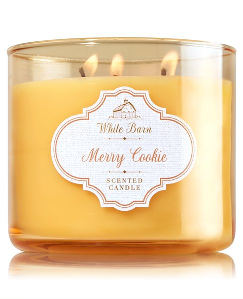 Lilin Bath & Body Works BBW MERRY COOKIE 3-Wick Scented Candle