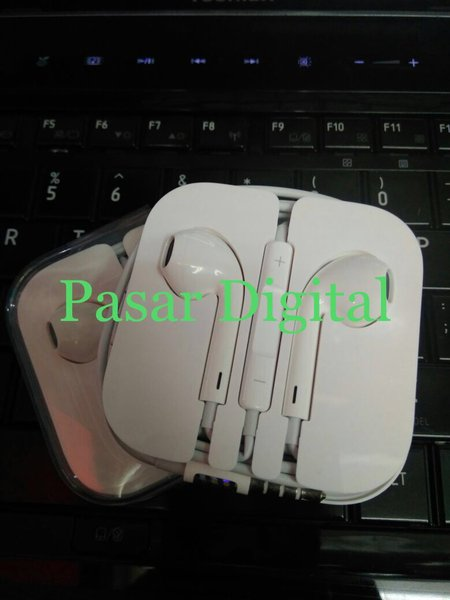 JUAL Headset Earphone Handsfree Earpods Apple Iphone 5 Ipad Mini Original DISKON