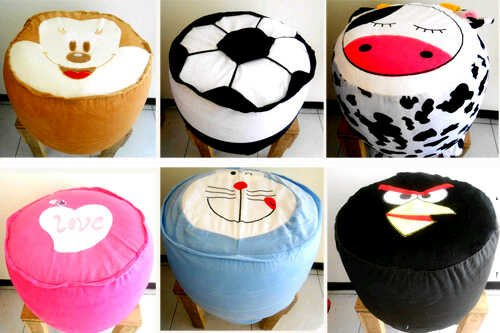 Sofa / Kursi Tiup / Pompa / Balon / Angin Karakter Unyu Angry Bird, Hello Kitty dll