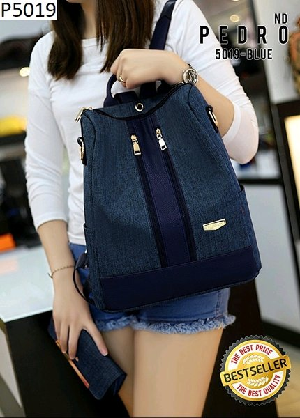 Tas Ransel Wanita PEDRO Bag 2in1 Set Dompet Series P5019 Semipremium Quality Best Sellers