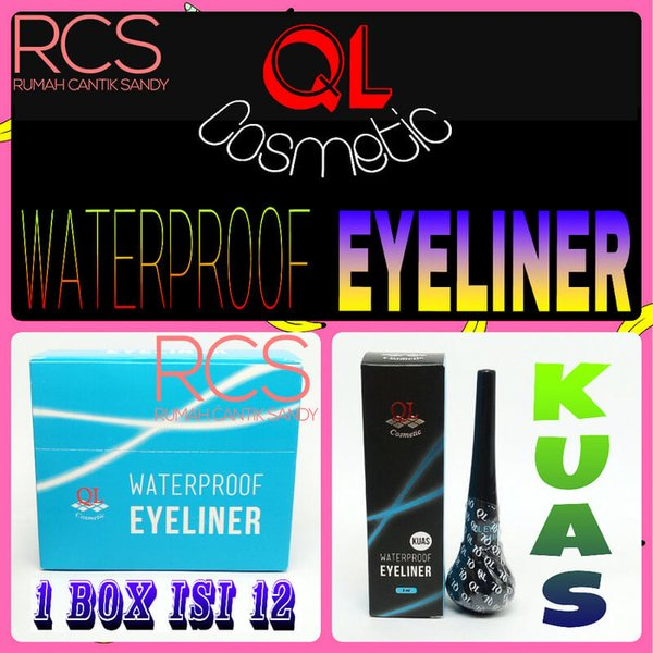 Jual QL COSMETIC    KUAS PREMIUM   EYELINER WATERPROOF  TAHAN AIR  ORIGINAL Limited