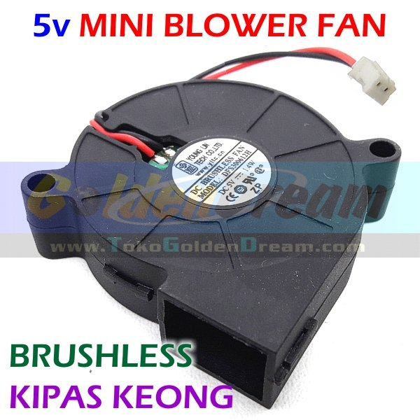 5v Mini Blower Fan Kipas Keong Brushless DC Angin Cooling Turbo Cooler