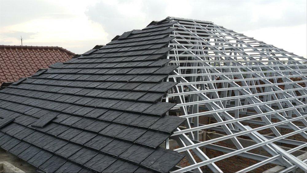 pemasangan atap baja ringan balikpapan jual paket rangka genteng metal