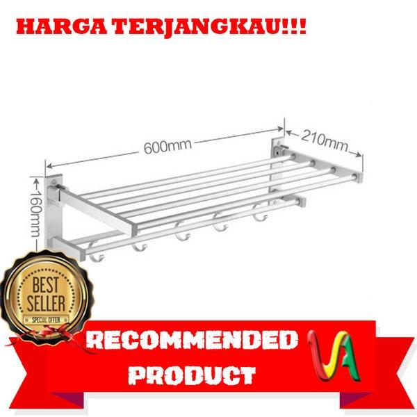 Rak Handuk.Rak Dinding toilet Aluminium size 60x21x16cm