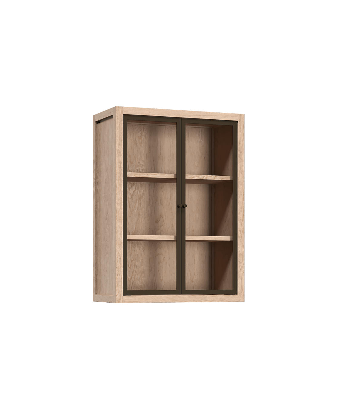 Radix Wall Kitchen Cabinet 2 Glass Doors 24 In White Oak