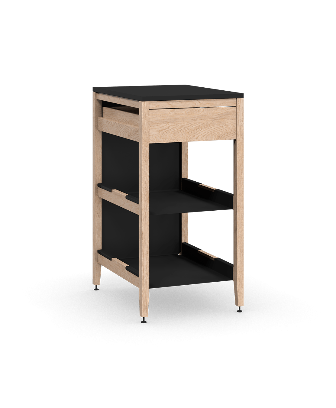 base kitchen cabinets shelving ideas radix cabinet 2 shelf drawer f back 21 in white blck coquo oak solid wood modular shelves 1 inch