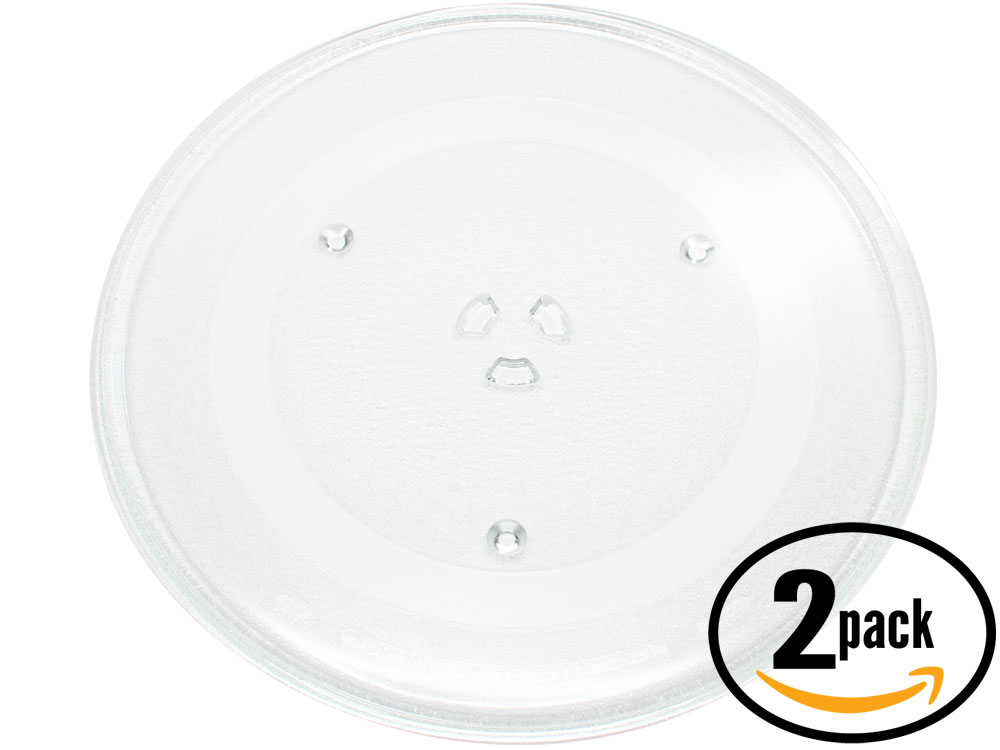 2xMicrowave Glass Turntable Plate Tray for Maytag