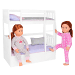 Dream Bunks White Doll Bunk Bed Furniture Set Ourgeneration