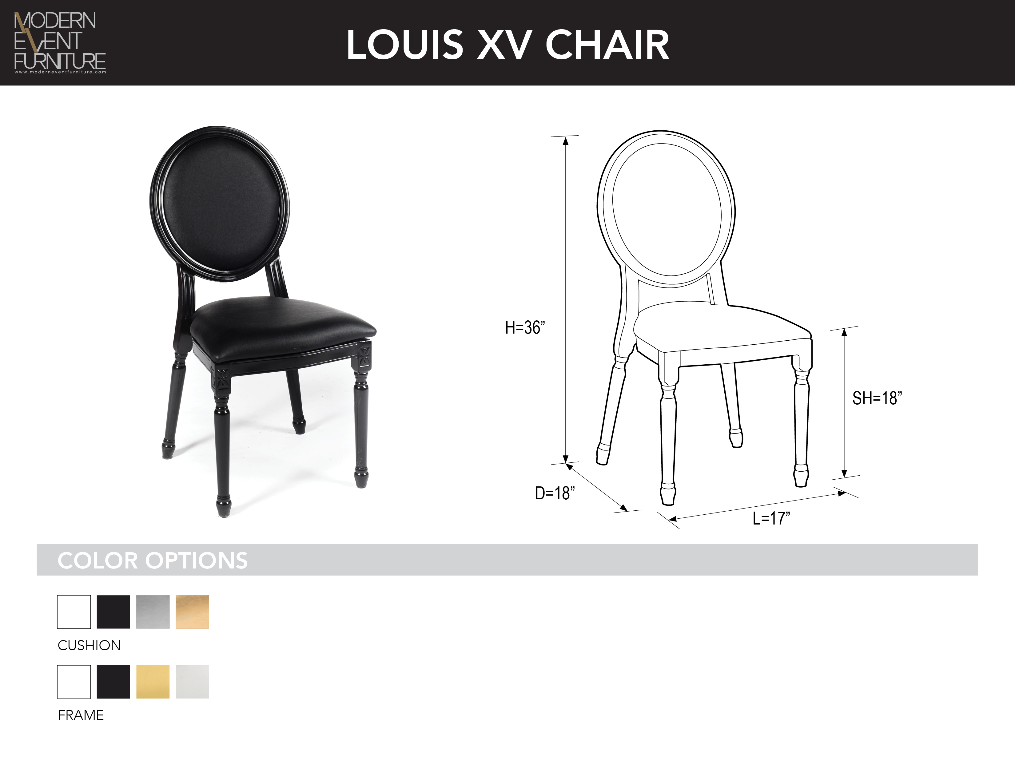 wheel chair dimensions best chairs tryp louis xv mef modern event furniture inc