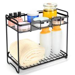 Kitchen Wire Rack Cabinet Drawer Inserts Cosmetic Storage Organizer Bathroom Multi Purpose Holder Shelf 2 Tier Sortwise