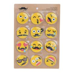 Kitchen Magnets Swag Curtains Refrigerator Sticker For Home And Office Emoticone 12 Pack Moustache