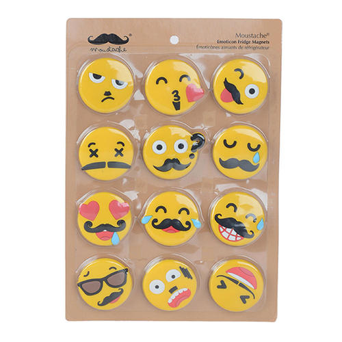 kitchen magnets trailers refrigerator sticker for home and office emoticone 12 pack moustache