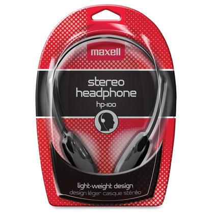 Maxell 190319 HP100 Lightweight Stereo Headphones Black