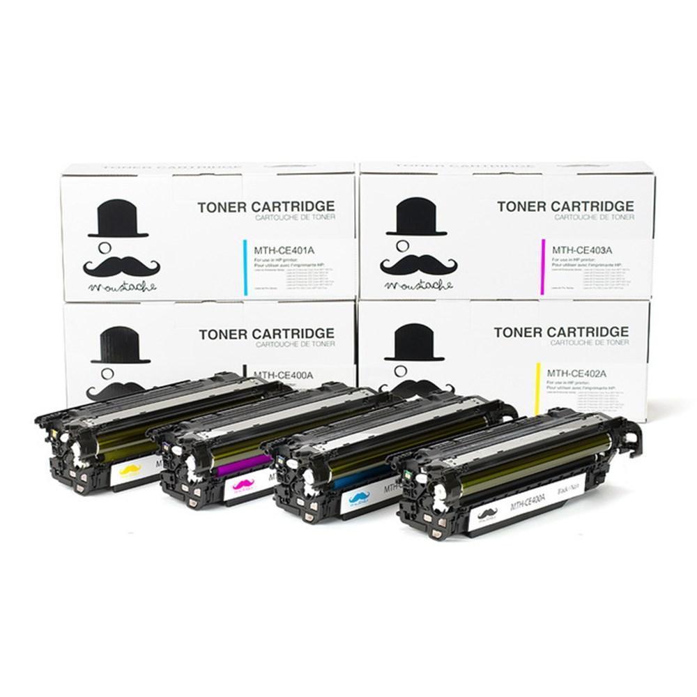 Compatible HP 507A Toner Cartridge Combo BK/C/M/Y