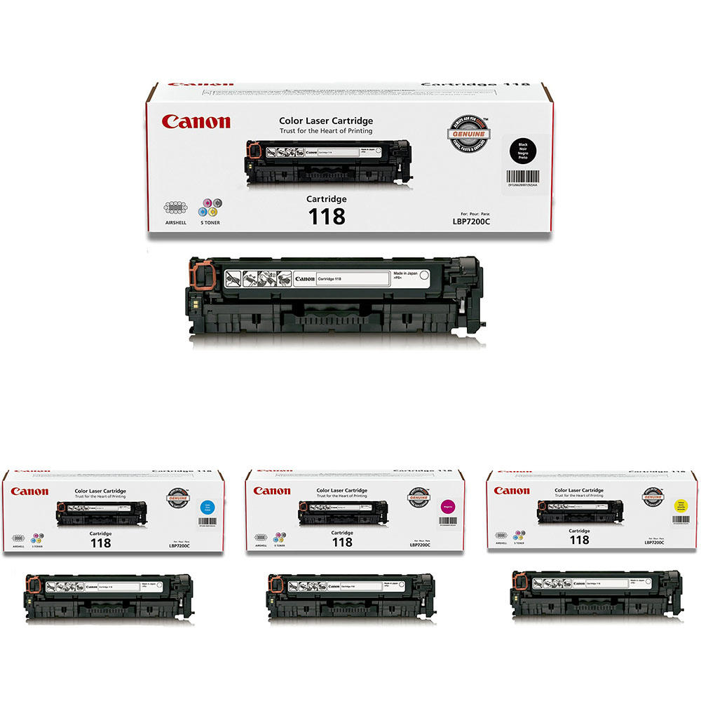 Canon 118 Original Toner Cartridge Combo BK/C/M/Y at