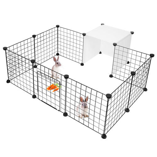 Pet Playpen, Small Animal Cage Indoor Portable Metal Wire
