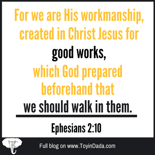 Necessity of sacrifice, we are God's workmanship
