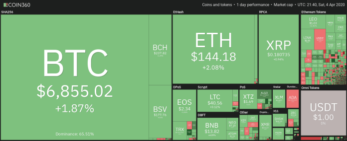 Daily view of the cryptocurrency market