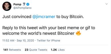 Anthony Pompliano hat CNBC-Investmentexperten Jim Cramer von Bitcoin überzeugt