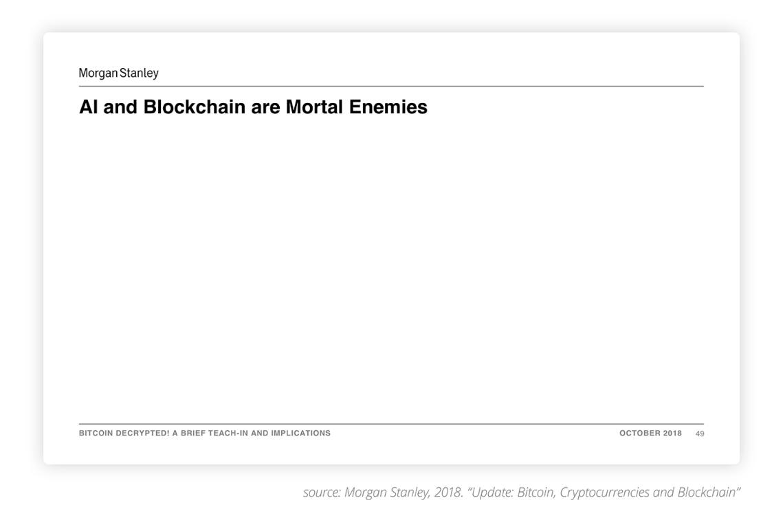 AI and Blockchain Are Mortal Enemies