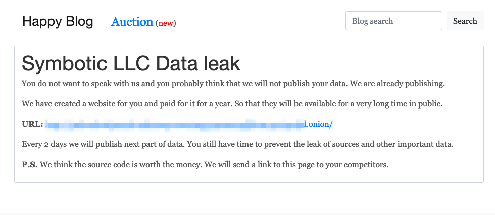 Symbotic LLC Data leak
