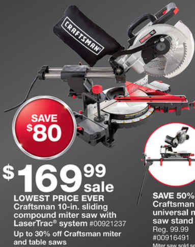 Craftsman Sliding Compound Miter Saw