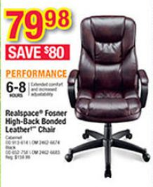 realspace fosner high back bonded leather chair diy dining chairs black friday deal