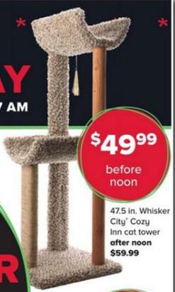 Whisker City Cat Tree : whisker, Black, Friday, Deal:, Whisker, 47.5-in., Tower