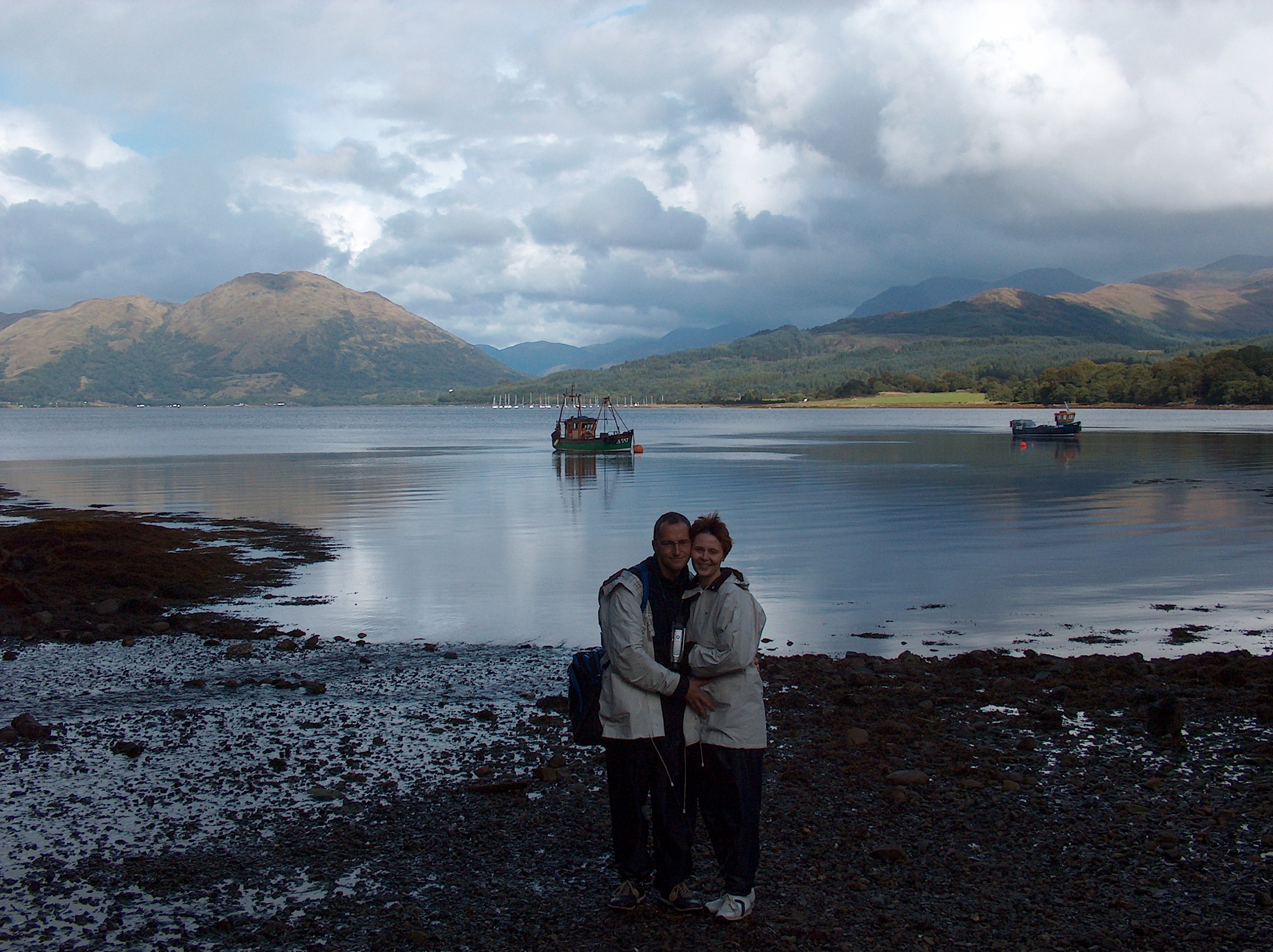 Michael and me on Loch Creran