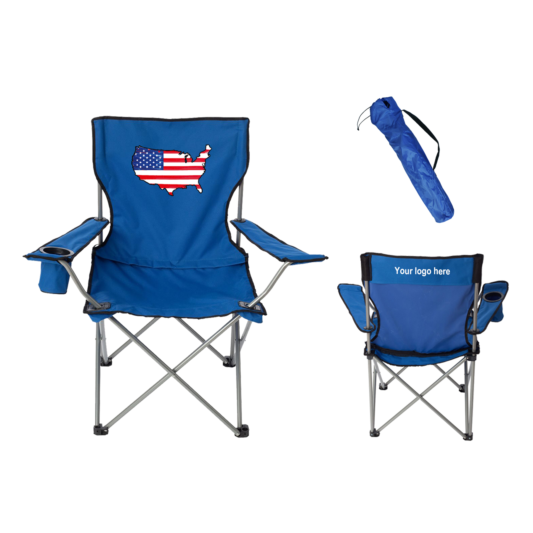 Folding Lounge Chair Flag Design Folding Lounge Chair