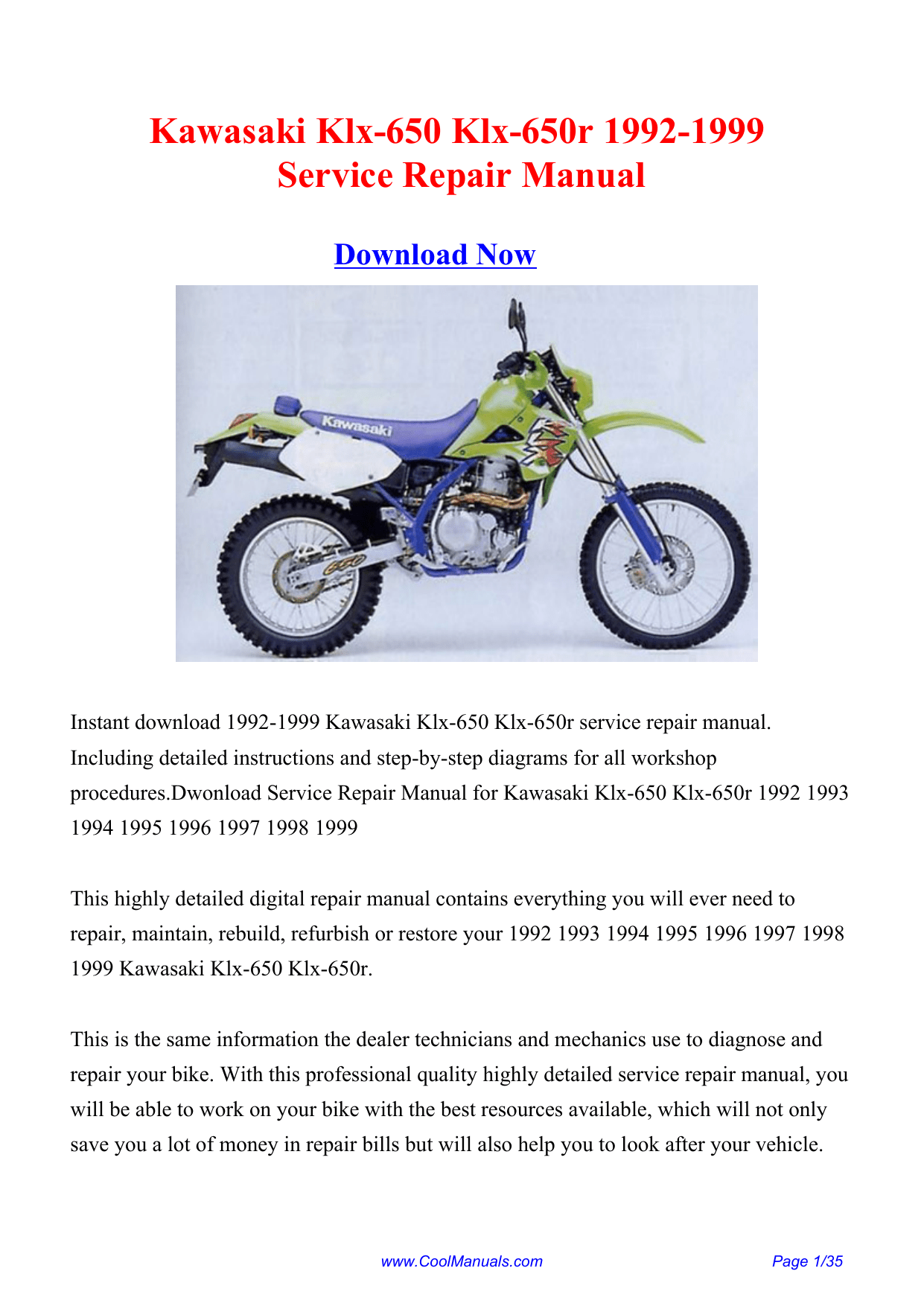 hight resolution of kawasaki klx 650 klx 650r 1992