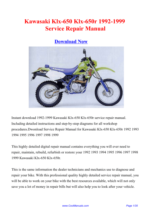 small resolution of kawasaki klx 650 klx 650r 1992