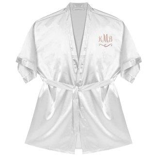 Monogram Satin Kimono Robe