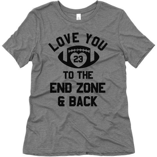 Download Football Mom Love To The End Zone Ladies Relaxed Fit Super ...