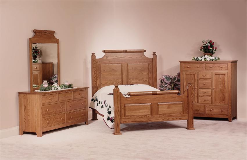 holmes county oak wood bedroom set - amish made