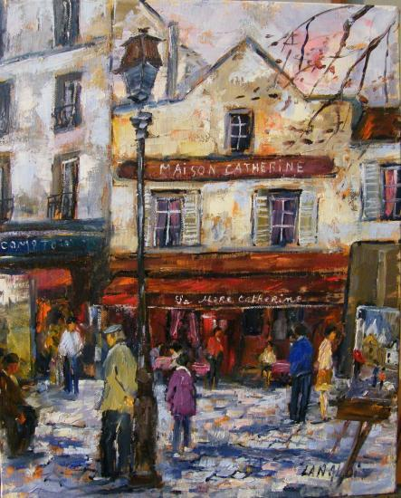 Peinture Impressionniste Reprsentant Une Scne De La