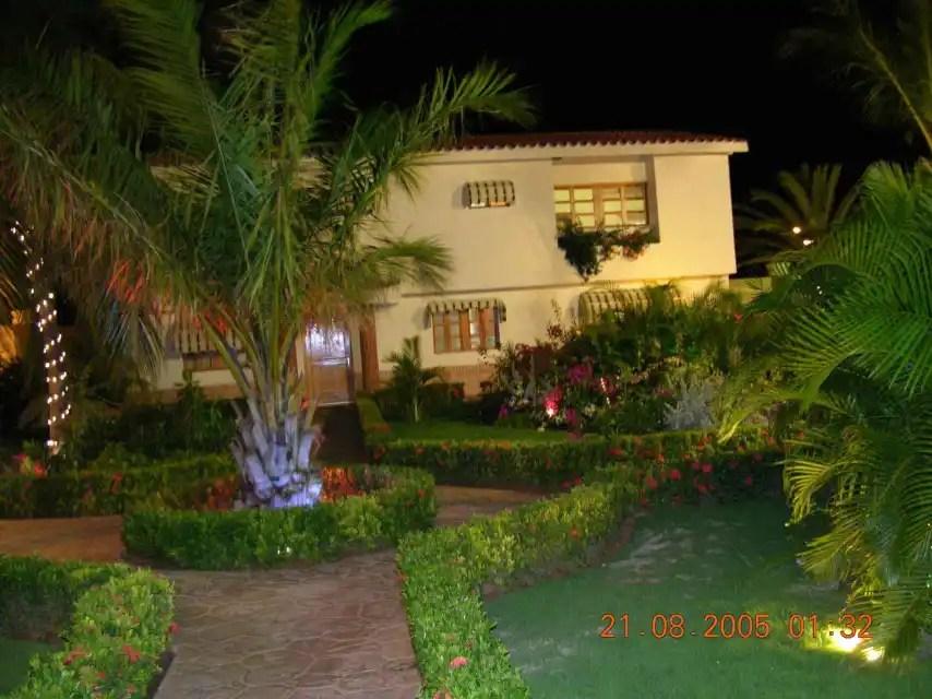 Fachada de la vivienda de Carlos Llorca en Isla Margarita.