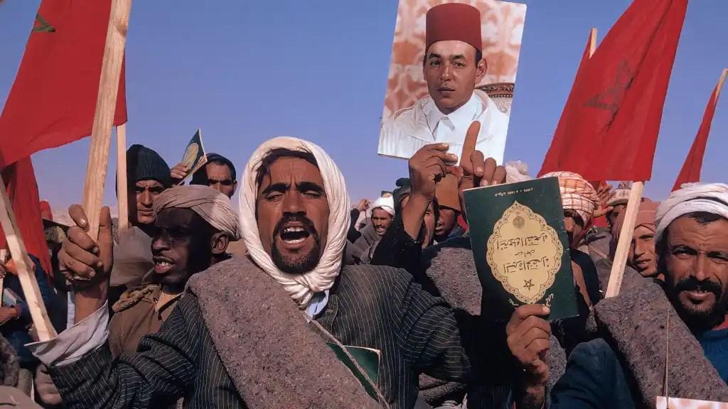 Más de 300.000 civiles participaron en la Marcha Verde, coordinada por Hassan II. Magnum Photos