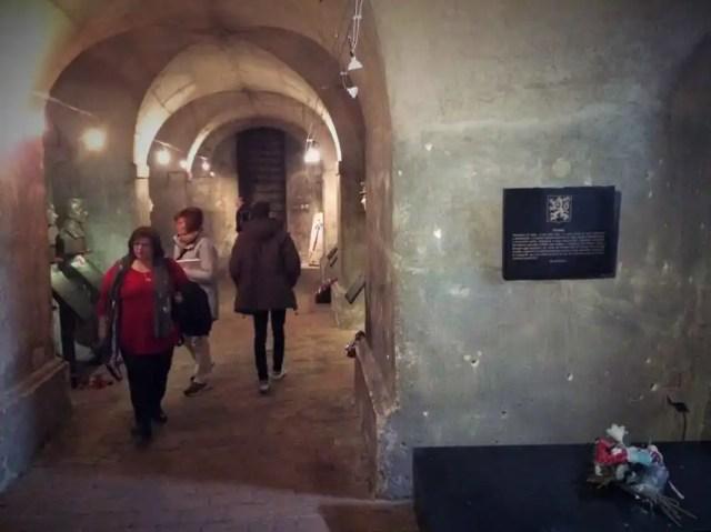 Interior de la cripta de San Cirilo y San Metodio.
