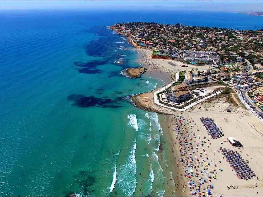 Playa La Zenia, ubicada en Orihuela.